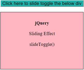JQuery Slidetoggle() output 1