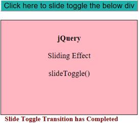 JQuery Slidetoggle() output 3