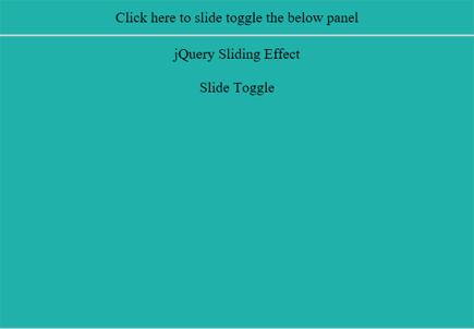 JQuery Slidetoggle() output 5