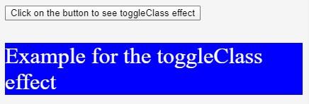 JQuery toggleClass()-1.2