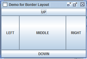 Java Swing Layout output 1