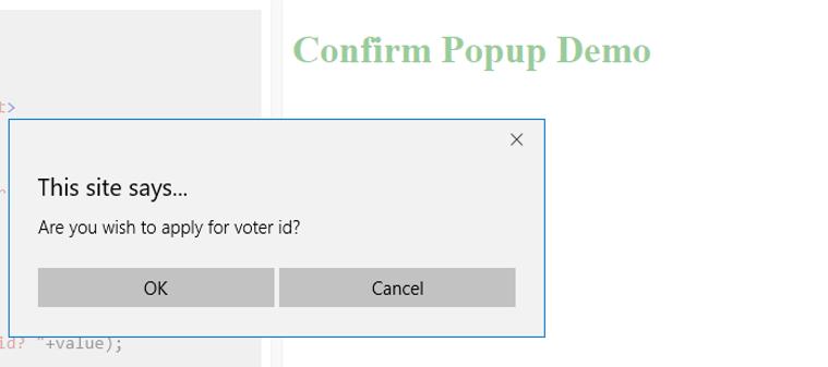 JavaScript Popup Box - 2