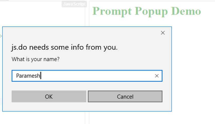 JavaScript Popup Box - 5