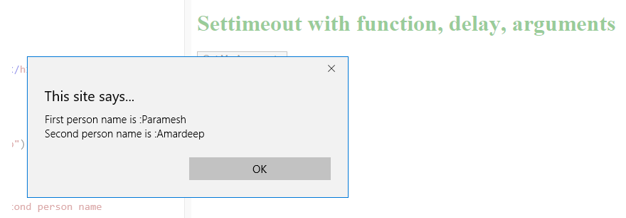 JavaScript setTimeout -6