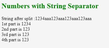 JavaScript split String 1-4