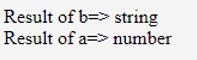 JavaScript typeof output 2