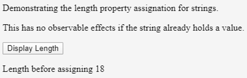 Assigning the Length to String Object 2.1