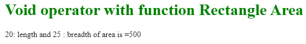 Javascript void output 2