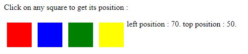 Jquery position() 6