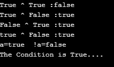 Logical Operator in Java 1-1