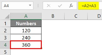 Write Formula in Excel 1-3