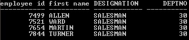 Oracle Aliases eg4