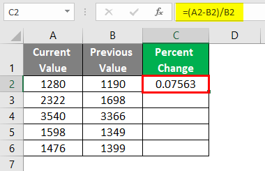Values are Stored in Cells 2-4