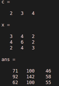 c ( x ) = 2x^2 + 3x + 4