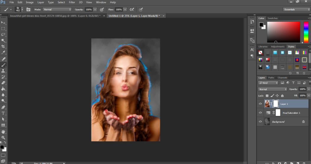 Portrait Effect in Photoshop 21