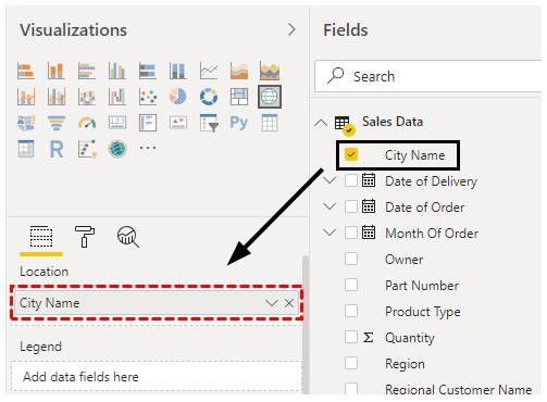 Power bi Maps Example 1-7