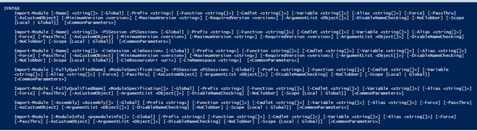 PowerShell Import-Module syntax 1