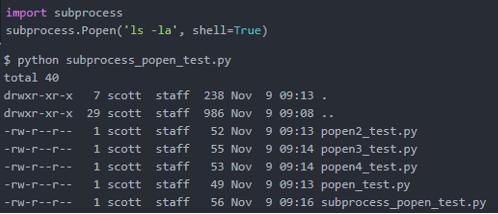 Python Subprocess Output 1
