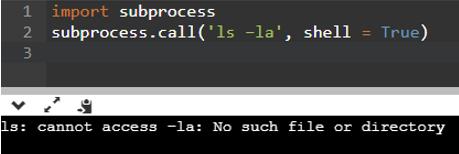 Python Subprocess Output 2