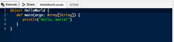 Scala Output