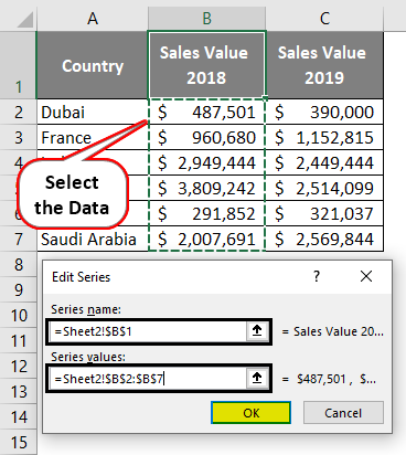 Edit Series- Select Data