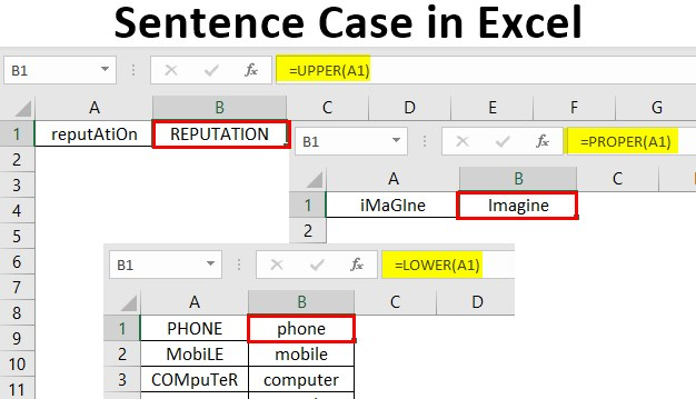 Sentence Case in Excel