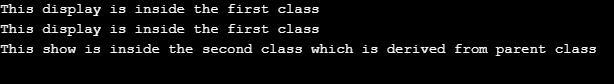 derived class