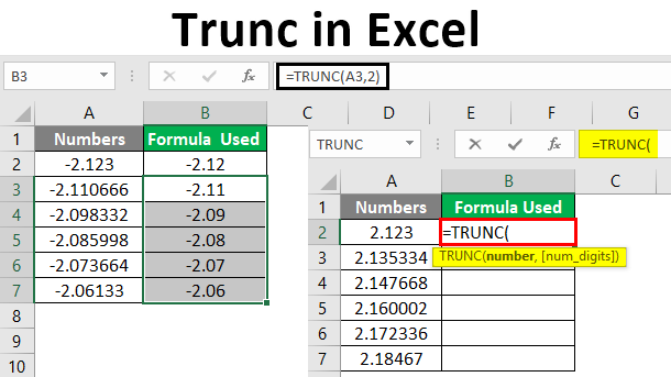 TRUNC in Excel