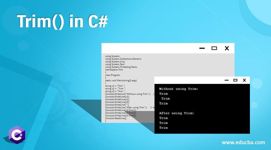 Trim() in C#