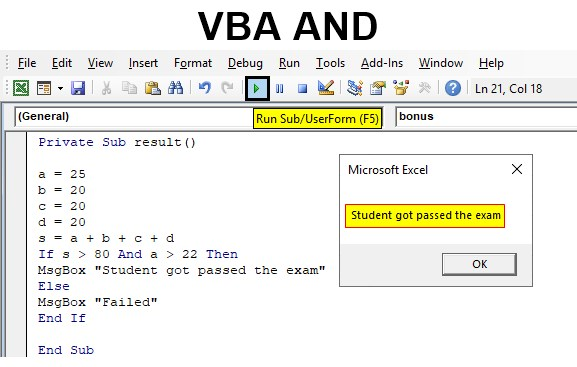 VBA AND