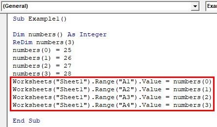 VBA Dynamic Array Examples1-5