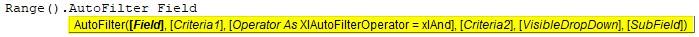 VBA Filter Syntax