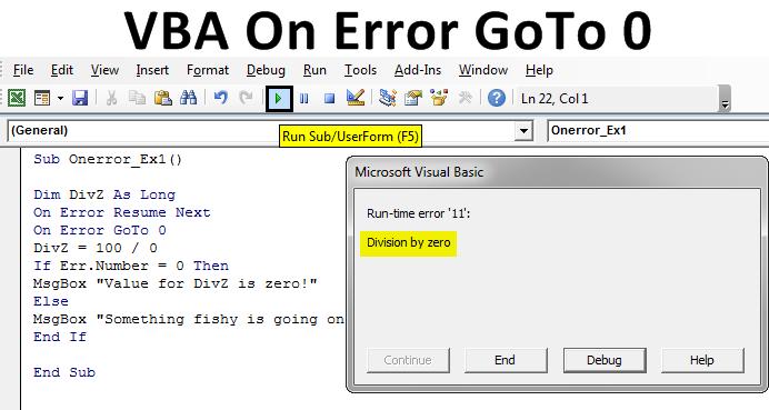 VBA On Error Goto 0