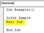 Exit Sub Example 1-3