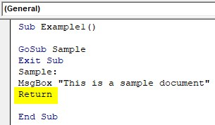 VBA Return Example 1-5