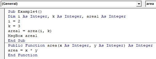 VBA Return Example 4-1