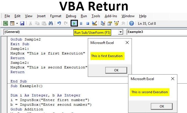 VBA Return