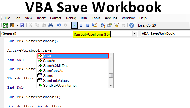 VBA Save Workbook