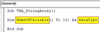 VBA String Array Examples