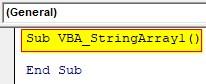 VBA String Array Examples 1-1