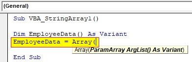 VBA String Array Examples 1-3