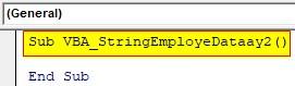 VBA String Array Examples 2-1