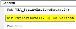VBA String Array Examples 2-2