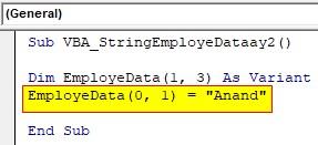 VBA String Array Examples 2-3