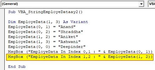 VBA String Array Examples 2-6