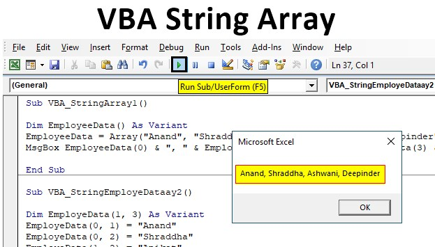 VBA String Array