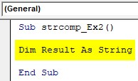 VBA String Comparison Examples 2-2