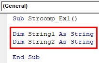 VBA String Comparison Examples 1-4