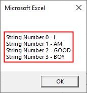 VBA SubString Example4-6