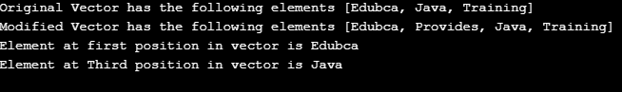 Vector in Java eg2